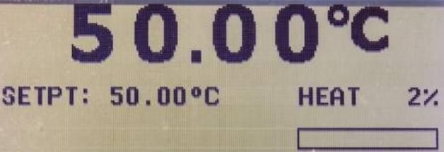 Digital Temperature Gauge Showing 50 Degrees Celcius
